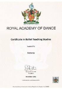Ballet Teaching Studies